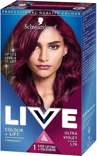 Tinte Schwarzkopf LIVE Color XXL Luminance L76 Ultra violeta ...