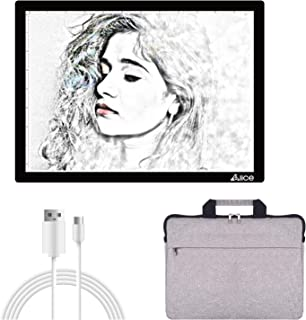 LED Light Pad, ELICE A4 Wireless Battery Powered Light Pad Artcraft Tracing Pad Light Box Dimmable Brightness Rechargeable...