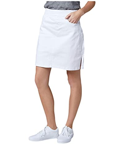Jag Jeans On The Go Pull-On Denim Skort (White) Women