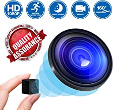 Mini Spy Camera Hidden Nanny Cameras, 2019 1080P HD Night Vision Motion Activated Covert Small Security Camera Cop Cam with Video and Audio for Home, Car, Office