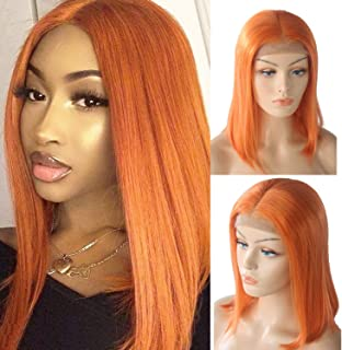 Lace Front Human Hair Wigs Layered Hair Bob Cut Lace Wig Pre Plucked Hairline Full End 150% Density Brazilian Straight Wigs Bleached Knots 10
