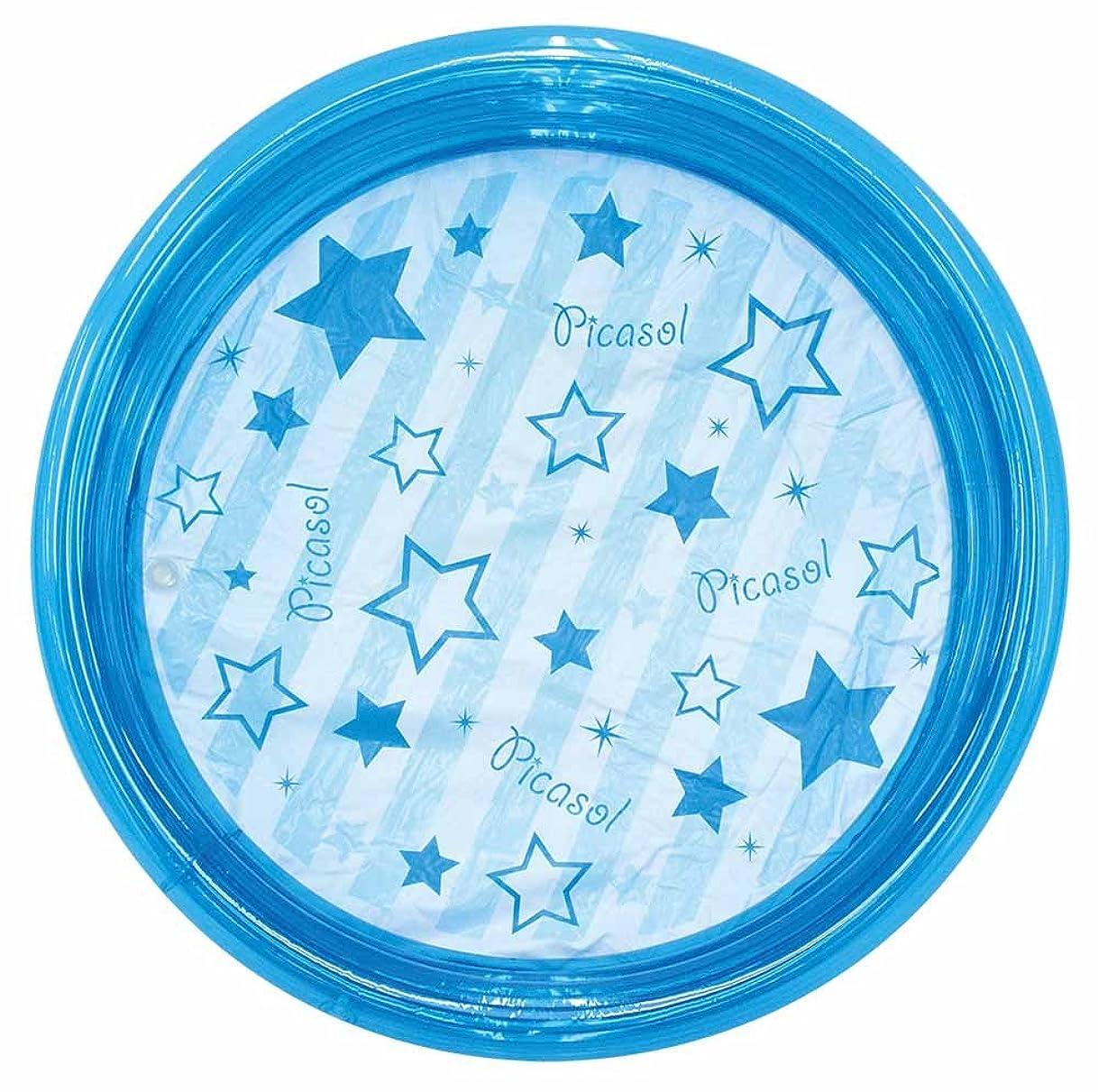エキスパート秀でる状ドウシシャ ビニールプール 丸形 ブルー 100cm