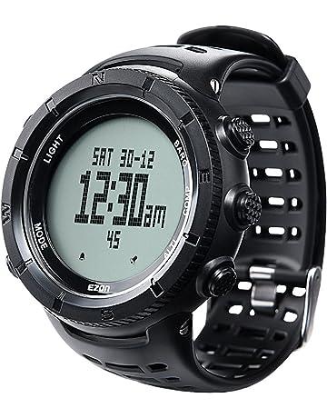 3afc71c208 EZONデジタルスポーツウォッチ ハイキングウォッチ 登山時計 ハイキング アウトドア コンパスウォッチ 男女兼用 高度計 バロメータ