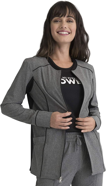Elle Women Warm Up Scrubs Jacket Zip Front EL325