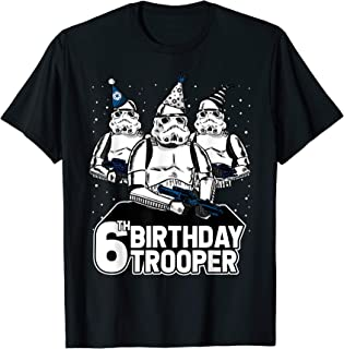Stormtrooper Party Hats Trio 6th Birthday Trooper T-Shirt