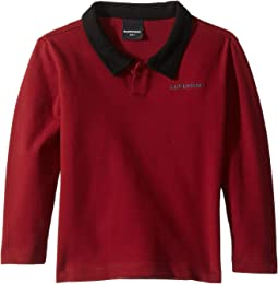 Long Sleeve with Contrast Collar Micheal Polo (Toddler/Little Kids/Big Kids)