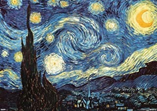 Vincent Van Gogh The Starry Night Post Impressionist Dutch Painter Painting Cool Huge Large Giant Poster Art 55x39