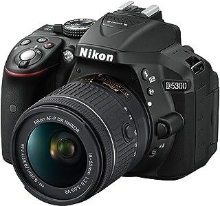 Nikon D5300 AF-P 18-55mm f/3.5-5.6G VR lens - 24 MP, SLR Camera, Black,lens kit