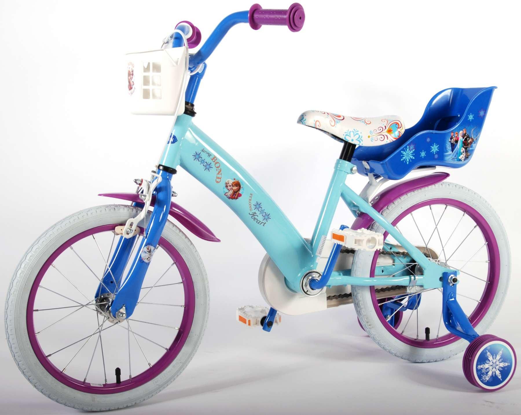 Vélo femme Disney Frozen 16 pouces panier roues de stabilisation ...