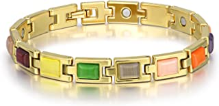 C&Y JEWELRY Arthritis Bracelet Magnetic Therapy Multicolored Opal Arthritis Pain Relief for Bracelet for Women Men Gifts