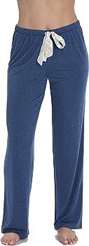Followme Ultra Soft Solid Stretch Jersey Women's Pajama Pants