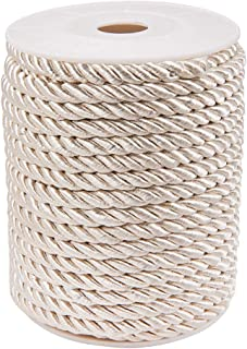 PH PandaHall 5mm/ 18 Yards Twisted Cord Rope Nylon Twisted Cord Trim Thread String for Home Décor Curtain Tieback, Honor Cord (BlanchedAlmond)