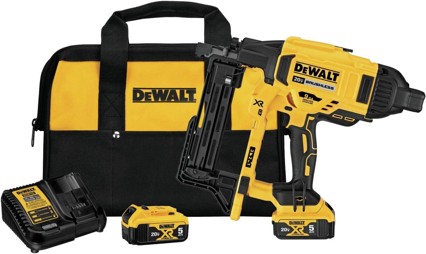 DEWALT 20V 2021 spring and summer new MAX XR Crown Stapler Kit Cordless DCFS San Jose Mall Fencing 9GA