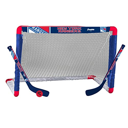 best website a8d4f cafbd Franklin Sports NHL Team Licensed Knee Hockey Set - Includes 2 Mini Hockey  Sticks and One