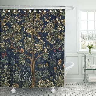 Semtomn Shower Curtain William Tree of Life Morris Vintage Floral Pre Raphaelite 72