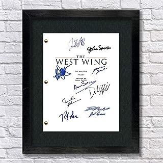 The West Wing Autographed Signed Reprint 8.5x11 Script 13x15 Framed Allison Janney, John Spencer, Martin Sheen, Aaron Sorkin