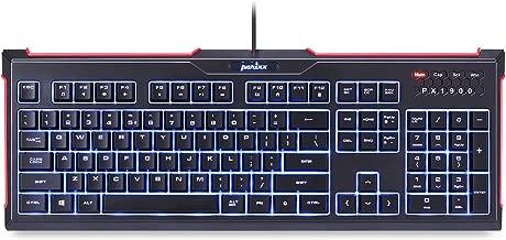 Perixx 11483 PX-1900 Backlit Gaming Keyboard – Silent X Type Scissor Keys –..