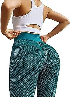 Sexy Shark Scales High Waist Leggings,Women Butt Lift Yoga Pants Scrunch Push Up Leggings Sports Sexy Fitness Trousers (L,...