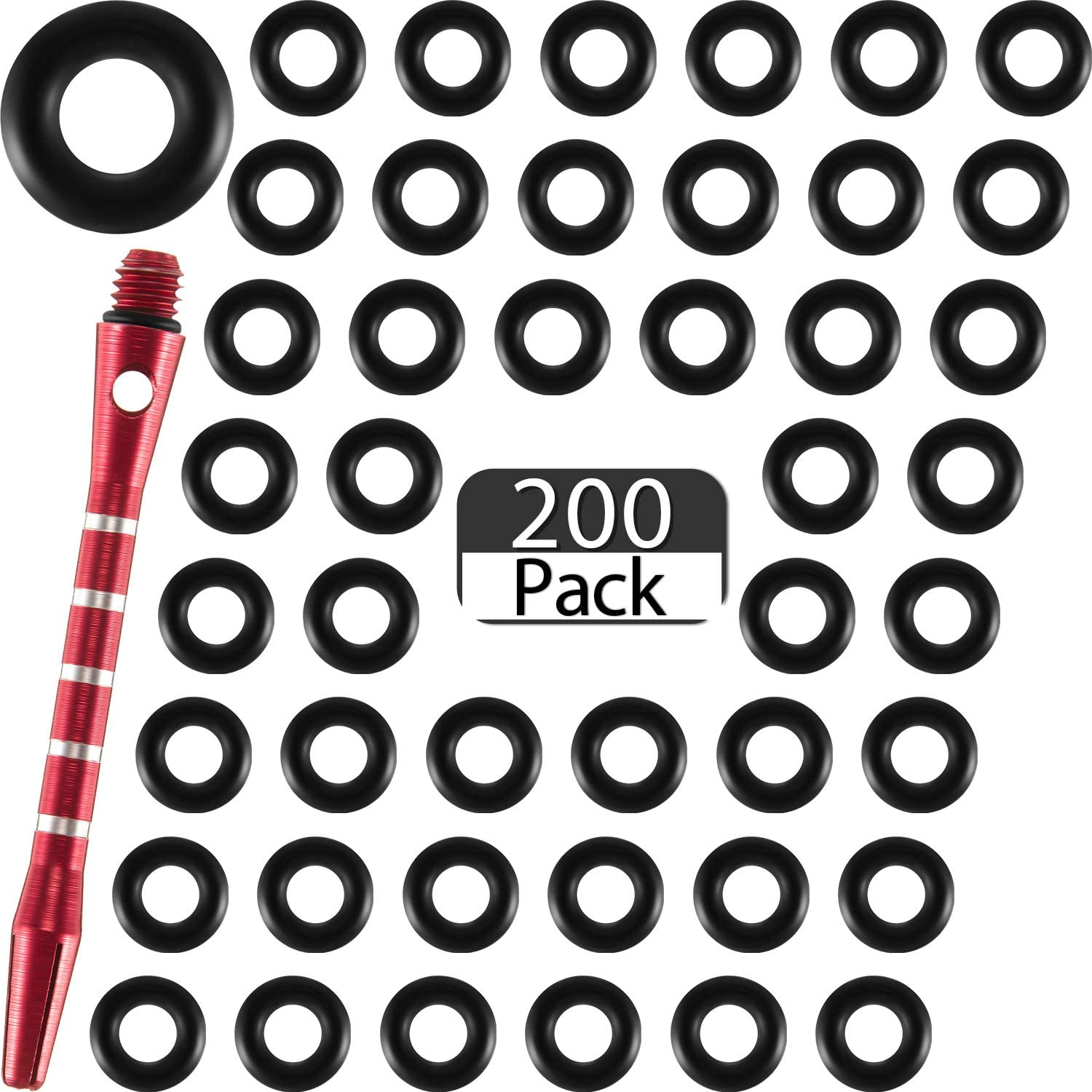 200 Pieces NEW Dart Shaft O-Rings Rings Non-Slip Online limited product Washer Rubber