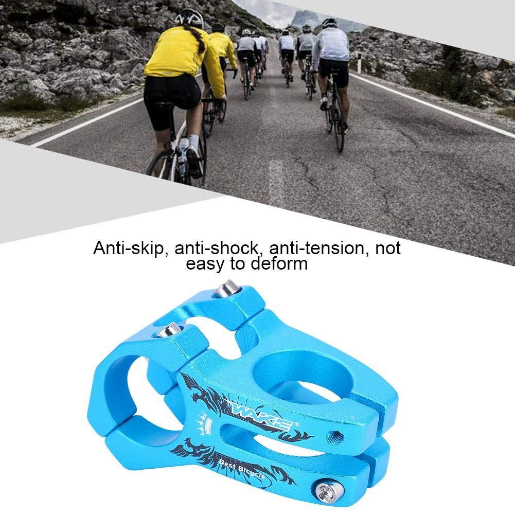 Vástago de Bicicleta Corto de Manillar, 31.8mm Potencia para Bicicleta Montaña Elevador de Vástago de Manillar Bar Stem Tallo de Barra para Bicicleta de Carretera Ciclismo MTB BMX Fixie Gear (Azul): Amazon.es: