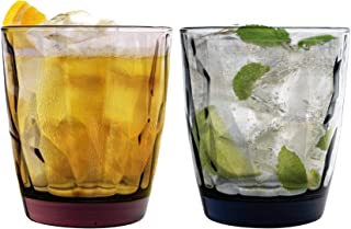 Bormioli Rocco Diamant Dimpled Double Old Fashioned Tumblers - 390 ml - Satz von 12