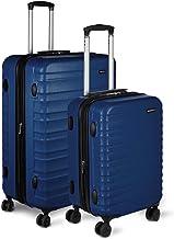 AmazonBasics Hardside Spinner, Carry-On, Expandable Suitcase Luggage with Wheels, Navy - 2-Piece Set
