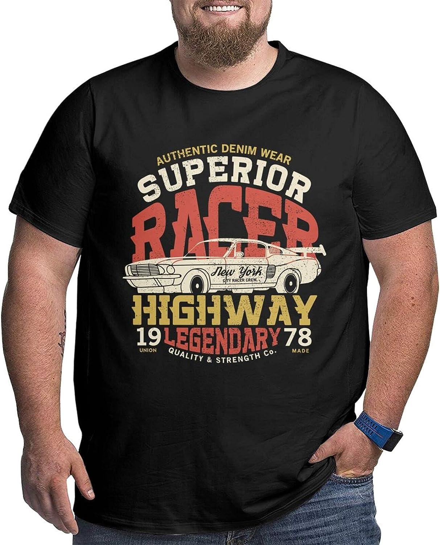 Racing Car Legend Men's Simple Big Size Summer Outdoor Short Sleeve Tshirts