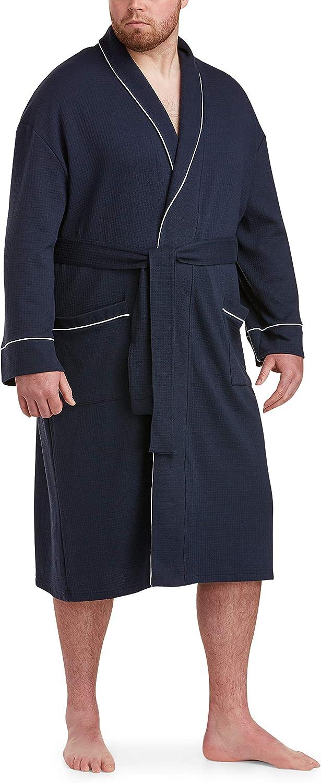 Amazon Essentials Men's Big & Tall Lightweight Shawl Robe fit by DXL