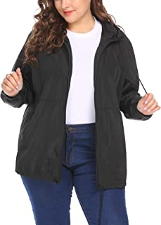 IN'VOLAND Women's Plus Size Raincoat Rain Jacket...