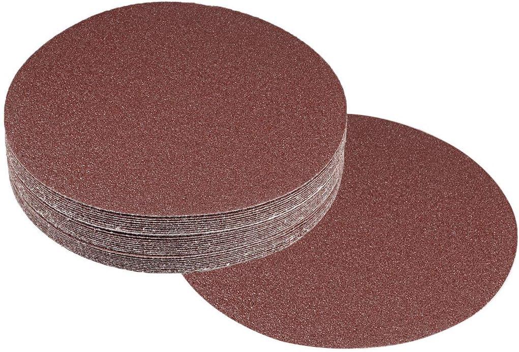 Adiyer 7-inch 80 Grit Hook and Loop Sanding Discs Sandpaper Aluminum Oxide Abrasive 20 Pack