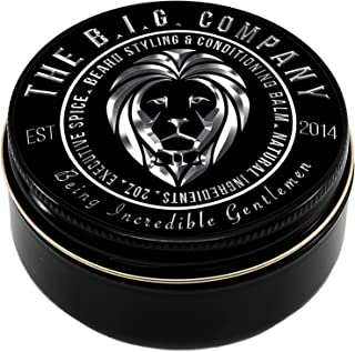 Beard Balm Leave-in Conditioner with Natural Bees Wax, Jojoba & Argan Oil –..