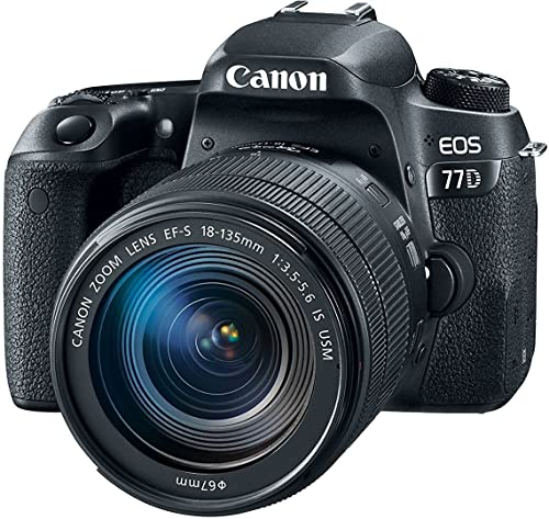 Canon EOS 77D 24.2MP Digital SLR Camera + EF-S 18-135 mm 3.5-5.6 is USM Lens product image