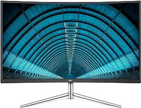 AOC C32V1Q 31.5in Full HD 1920x1080 Monitor, Curved VA Panel, 4ms 75hz, Frameless, HDMI/DisplayPort/VGA, FlickerFree, Low ...