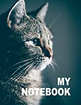 My Notebook. For Cats Pets Lover. Blank Lined Planner Journal Diary.