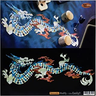 Fire Dragon (White Pearl) Inlay Sticker Decals for Guitar & Bass