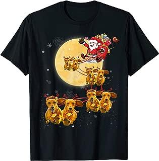 Christmas Reindeer Dachshund Dog Shirts Funny Christmas Gift T-Shirt