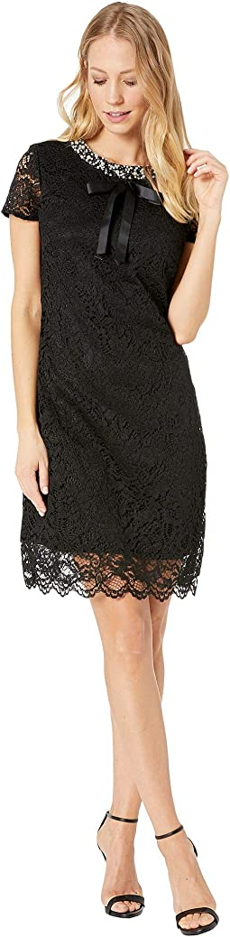Lace Dress with Pearls