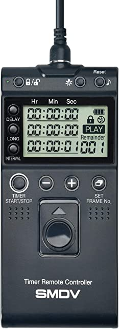 Impulsfoto T805 - Disparador remoto SMDV compatible con Canon Fujifilm Olympus Samsung Sigma Pentax Contax cámaras Hasselblad disparador de cable con temporizador e intervalo