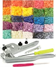 500 Sets 25-Color Original KAMsnaps KAM Snap Press Pliers Plastic Snaps Starter Pack No-Sew Button Fastener Setter Hand Tool for Cloth Diapers Bibs