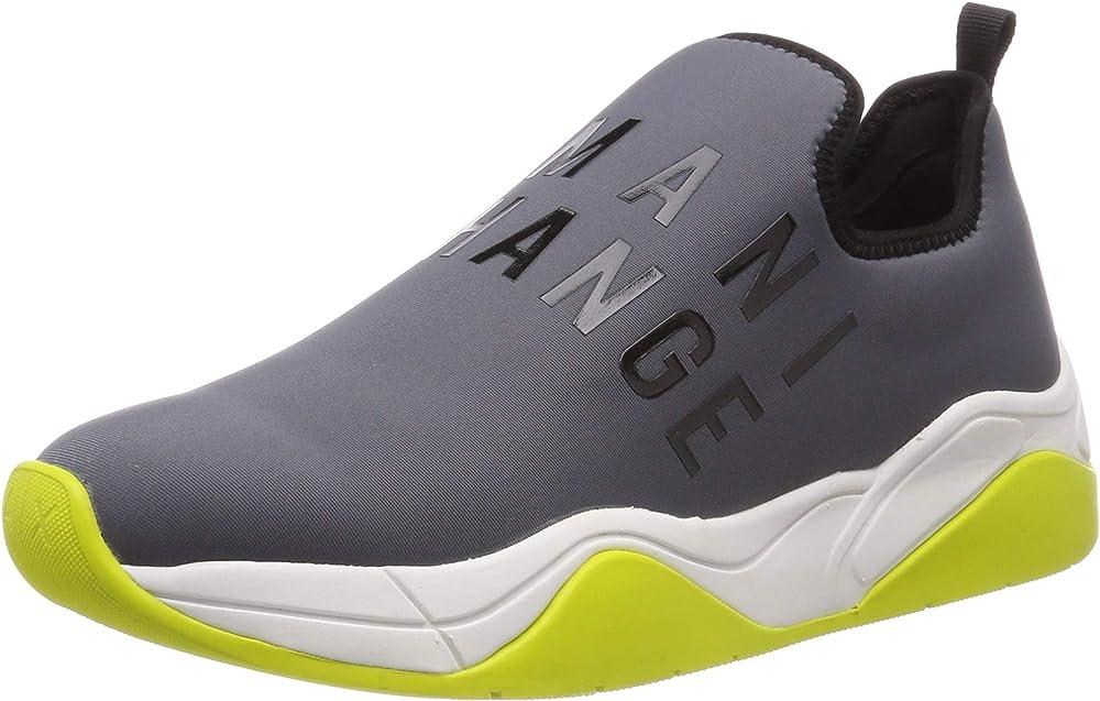 Armani exchange sneaker scarpe da ginnastica basse donna neoprene lace up XDX021XV116 1