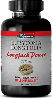 Tongkat ali root extract - Longjack Power Eurycoma Longifolia 2275mg - Testosterone booster for men sex drive (1 Bottle - 60 Tablets)