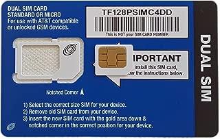 Straight Talk AT&T Micro Sim iPhone 4, 4s, Galaxy S3