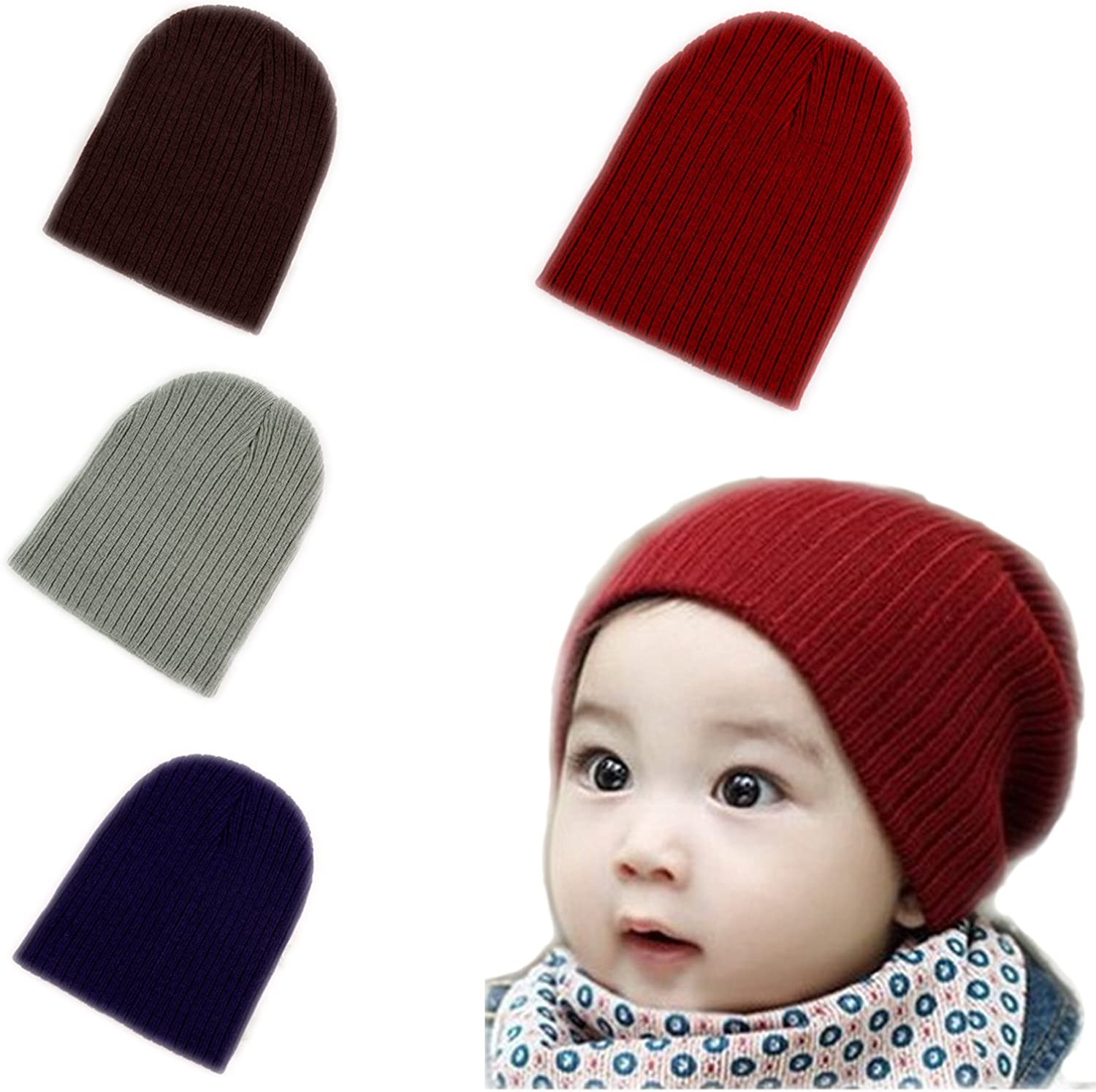 BOMPOW Baby Beanie Hat Cozy Hat Infant Toddler Baby Beanies for Boys Girls: Clothing, Shoes & Jewelry