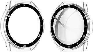 ZAALFC Estuche para PC para Huawei Watch GT2E Funda de Vidrio Templado Tapa Completa Pantalla Protectora Protectora Protec...
