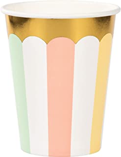 Creative Converting Pastel Celebrations Drinking Party Tumbler Cups 8-Pieces, 9 oz Capacity