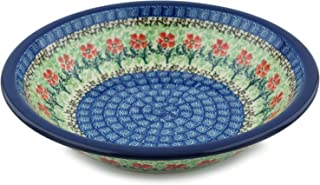 Polish Pottery Pasta Bowl 8-inch Maraschino