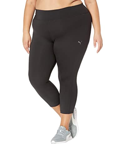 PUMA Plus Size Solid 3/4 Tights (PUMA Black) Women