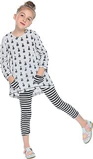 Little Girls Clothing Sets Bunny Long Sleeve Outfits 2 PCS Top Leggings Pajamas Sets