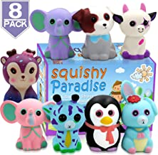 POKONBOY Squishy Slow Rising Squishies, 8 Pack Animal Halloween Squishies Cream Scented Squishies Pack Stress Relief Super Soft Squeeze Kawaii Cute Animal for Kids