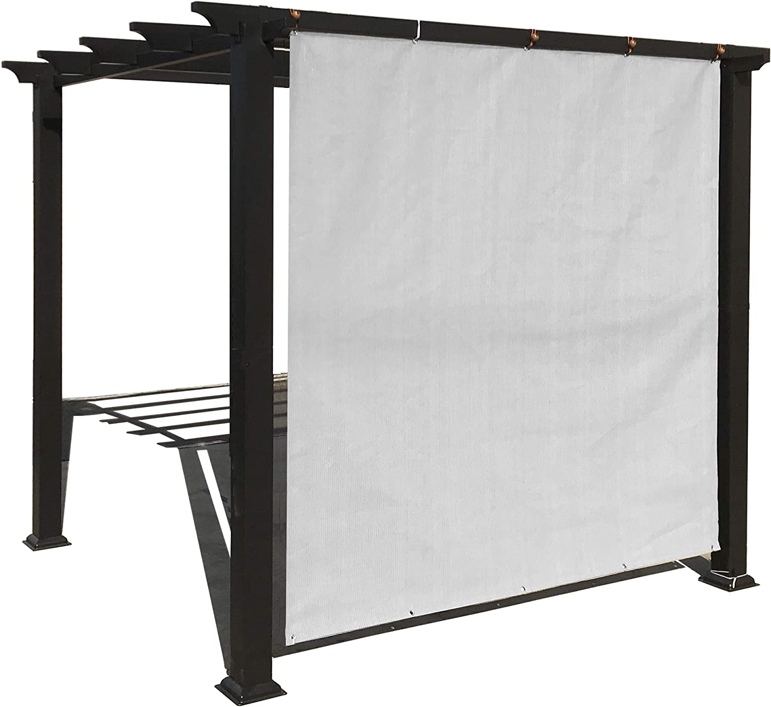 Alion Home Sun Shade Privacy Panel with Grommets on 2 Sides for Patio, Awning, Window, Pergola or Gazebo - Smoke Grey (8' x 5')